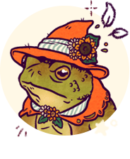 Toad witch portrait